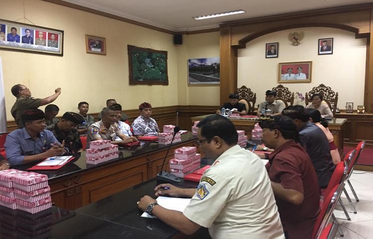 Rapat Kerja Jabatan Fungsional Polisi Pamong Praja dalam rangka pengangkatan Pejabat Fungsional Polisi Pamong Praja di Lingkungan Pemerintah Kabupaten Badung
